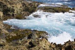 Orilla del norte de Aruba Foto de archivo libre de regalías