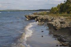 Orilla del norte ocultada de la isla de Panglao, Filipinas Foto de archivo libre de regalías
