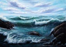 Orilla del océano imagen de archivo