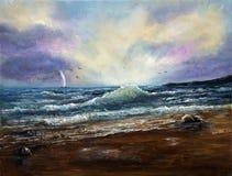 Orilla del océano libre illustration