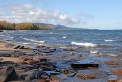 Orilla del superior de lago foto de archivo libre de regalías