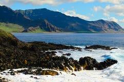 Orilla del sur Oahu Fotos de archivo