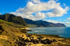 Orilla del sur rocosa Oahu Fotos de archivo
