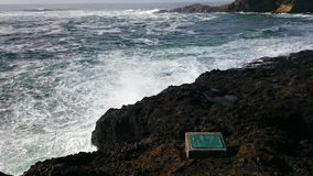Orilla en la bahía de Depoe Imagen de archivo
