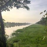 Orilla en Tailandia en el amanecer Imagen de archivo libre de regalías