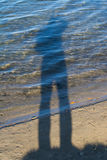 Orilla herbosa de Sandy del lago Imagenes de archivo