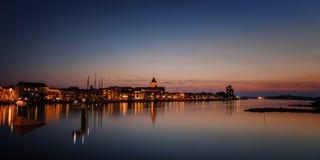 Orilla IJssel cerca de Kampen Imagen de archivo