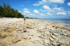 Orilla magnífica de la isla de Bahama Fotos de archivo