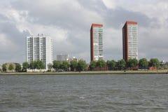 Orilla pintoresca (río Mosa) Rotterdam Fotos de archivo