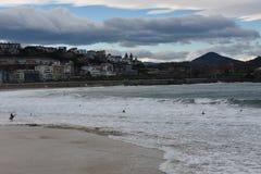Orilla playa de la Concha 库存照片