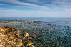 Orilla rocosa Grecia crete Imagen de archivo