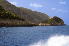 Orilla rocosa - isla de Zakynthos Imagenes de archivo