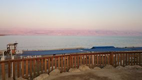Orilla salada del mar muerto Naturaleza salvaje Paisaje tropical verano imagen de archivo libre de regalías