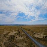 Orillas del lago Zaisan fotografía de archivo libre de regalías