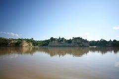 Orillas del río en Birmania fotografía de archivo