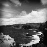 Orillas rocosas de Wailuku imagen de archivo