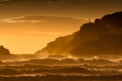 Orillas tempestuosas Fotografía de archivo