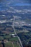 Orillia Ontario, aéreo Imágenes de archivo libres de regalías