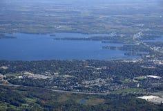 Orillia Ontario, aerial. Aerial view of Orillia Ontario, Canada Stock Images