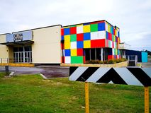 Orina Cinemas building in Australia. Orina Cinemas new building with colorful exterior in Western Australia Stock Photography