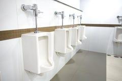 Orinali per la toilette all'aperto degli uomini Immagini Stock Libere da Diritti