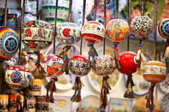 Orinetal Beads Hanged in Grand Bazaar, Istanbul Stock Photo