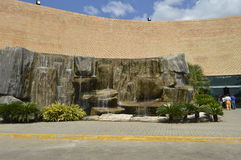 Orinokia mall entrance. Puerto Ordaz, Venezuela. This mall of Puerto Ordaz, Venezuela, has water falls in two of its inputs, this is the most modern mall in the Stock Images