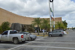 Orinokia mall entrance. Puerto Ordaz, Venezuela. This mall of Puerto Ordaz, Venezuela, has water falls in two of its inputs, this is the most modern mall in the Stock Photos