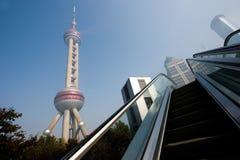 Oriëntatiepunten van Shanghai stad Stock Fotografie
