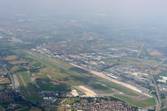 Orio airport from above, Italy Royalty Free Stock Photography