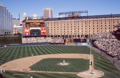 Oriole Park at Camden Yards, Baltimore, MD. Image taken from color slide royalty free stock photo