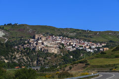 Oriolo, a little town in calabria near parco del pollino Royalty Free Stock Photo