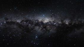 Orion Belt de la galaxia de la manera de Milkey en espacio exterior