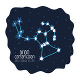 Orion constelation design Stock Images