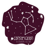 Orion constelation design Royalty Free Stock Images