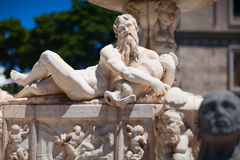 Orion fountain. Triton marble sculpture. Messina, Italy. Stock Image