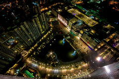 Orion Mall and World Trade Center. A panoramic view of Orion Mall and World Trade Center, Bangalore, India Stock Image