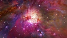 Orion mgławica (zoom W gwiazdy) ilustracja wektor