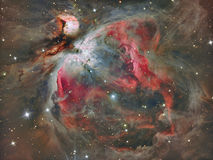 Orion Nebula. The Great Orion Nebula in real colors stock photo