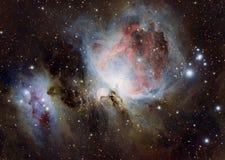 Orion Nebula als Slordigere 42, M42, of NGC 1976 ook wordt bekend die royalty-vrije stock foto