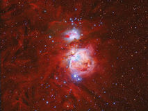 Orion Nebula. Imaged with a telescope and a scientific CCD camera royalty free stock photography