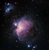 Orion Nebula Night sky Deep Space beautiful night sky. The Orion Nebula (Messier 42) is a diffuse nebula situated in the Milky Way south of Orion's Belt in the Stock Photography