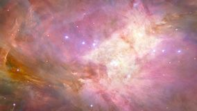 Orion Nebula in space. Fly around stock video footage
