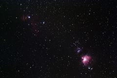 Orion Region Arkivbild