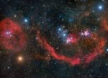 Orion sammanlagt dess härlighet Arkivfoto
