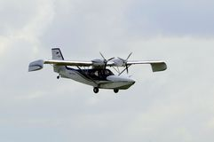 The Orion SK-12 amphibian in flight. Royalty Free Stock Photo