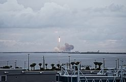 Orion spacecraft launch in Cape Canaveral, seen from the Disney Cruise Royalty Free Stock Photography