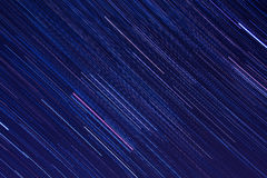 Orion star trails in the night sky Stock Photography