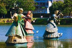 Orishas fountain  salvador of bahia Royalty Free Stock Photography