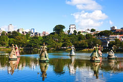 Orishas fountain  salvador of bahia Royalty Free Stock Photos